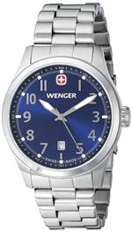ウェンガー 時計 Wenger Mens 01.0541.118 Terragraph 3H Analog Display Swiss Quartz Silver Watch<img class='new_mark_img2' src='https://img.shop-pro.jp/img/new/icons16.gif' style='border:none;display:inline;margin:0px;padding:0px;width:auto;' />