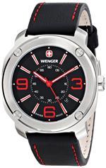 <img class='new_mark_img1' src='https://img.shop-pro.jp/img/new/icons15.gif' style='border:none;display:inline;margin:0px;padding:0px;width:auto;' />ウェンガー 時計 Wenger Mens 01.1051.103 Escort Analog Display Swiss Quartz Black Watch