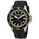 ウェンガー 時計 Wenger Sea Force Watch Black amp Yellow Dial Black amp Yellow Bezel Black Silicone