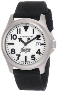 Momentum Men's 1M-SP00W6B Atlas White Dial Black Cordura Watch