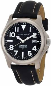 [モーメンタム]Momentum 腕時計 Atlas Black Dial Black Nautica Leather Watch 1M-SP01B2 レディース [並行輸入品]