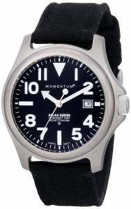 Momentum Men's 1M-SP00B6B Atlas Titanium Watch with Black Canvas Band