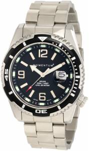Momentum Men's 1M-DV50B0 M50 DSS Black Dial Steel Bracelet Watch