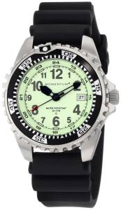 Momentum Men's 1M-DV00L1B M1 Lime Dial Black Rubber Dive Watch