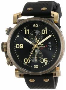 [ベスタル]Vestal 腕時計 USS Observer Chrono Black Antique Gold Watch OBCS007 ユニセックス [並行輸入品]