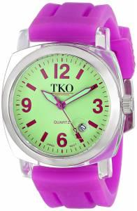 [TKO]TKO 腕時計 ORLOGI Milano Plastic Case and Purple Rubber Strap Watch TK508-GPR レディース [並行輸入品]