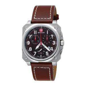 [ウェンガー]Wenger 腕時計 AeroGraph Cockpit Chrono Brown Leather 77014 メンズ [並行輸入品]