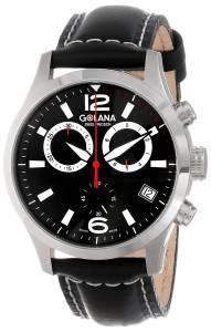 [ゴラナ スイス]Golana Swiss 腕時計 Terra Stainless Steel Leather Fashion Watch TE120-1 メンズ [並行輸入品]