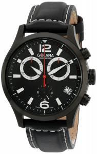 [ゴラナ スイス]Golana Swiss 腕時計 Aero Stainless Steel Leather Chronograph Watch AE210-1 メンズ [並行輸入品]