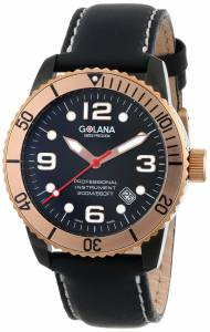 [ゴラナ スイス]Golana Swiss 腕時計 Aqua Stainless Steel Leather Divers Watch AQ220-1 メンズ [並行輸入品]