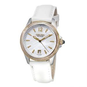 [ゴラナ スイス]Golana Swiss 腕時計 AAU1503ura Stainless Steel Leather Fashion Watch AU150-3 レディース [並行輸入品]