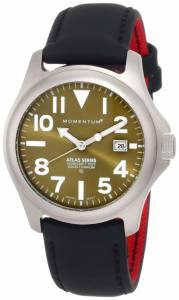 [モーメンタム]Momentum 腕時計 Atlas Green Dial Black Touch Leather Watch 1M-SP00G12B メンズ [並行輸入品]