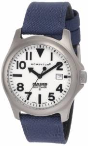 [モーメンタム]Momentum 腕時計 Atlas White Dial Blue Cordura Watch 1M-SP00W6U メンズ [並行輸入品]