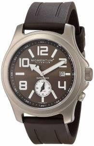 Momentum Men's 1M-SP56C1C Supernova Alarm Titanium Brown Groove Rubber Watch
