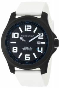Momentum Men's 1M-SP06BS1W Cobalt V SE Ultra-White Smooth Rubber Strap Watch