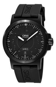 [オリス]Oris Sportsman Day Date Black DLC Case and Rubber Strap 01 735 7641 4764-07 4 22 05B