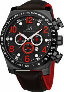 []Joshua & Sons 腕時計 Chronograph Stainless Steel Sports Watch JS714RD メンズ
