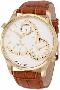 [オーガストシュタイナー]August Steiner 腕時計 GoldTone Watch with Brown Leather Band ASA810YG メンズ [並行輸入品]