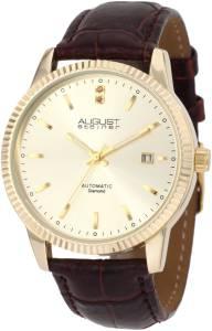 [オーガストシュタイナー]August Steiner 腕時計 Diamond Automatic Strap Dress Watch ASA825YG メンズ [並行輸入品]