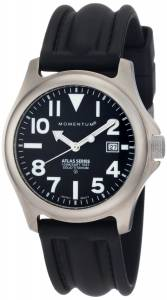Momentum Men's 1M-SP00B1 Atlas Black Dial Black SLK Rubber Watch
