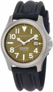 [モーメンタム]Momentum 腕時計 Atlas Green Dial Black SLK Rubber Watch 1M-SP00G1 メンズ [並行輸入品]