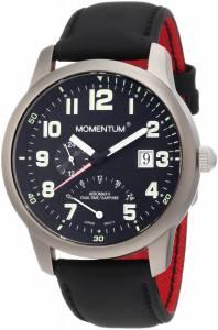 [モーメンタム]Momentum 腕時計 Aeromax Titanium DualTime Touch Leather Watch 1M-SP90B12B メンズ [並行輸入品]