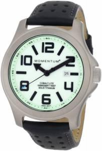[モーメンタム]Momentum 腕時計 Cobalt Lite Black Perforated Leather Watch 1M-SP08L2B メンズ [並行輸入品]