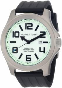 [モーメンタム]Momentum 腕時計 Cobalt Lite Black Ribbed Rubber Strap Watch 1M-SP08L1B メンズ [並行輸入品]