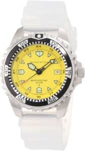 Momentum Men's 1M-DV00Y1T M1 Yellow Dial Transparent Silicone Rubber Watch