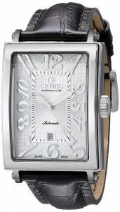 [ジェビル]Gevril Avenue of America Stainless Steel Automatic Watch with Brown Leather 5000A