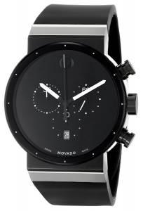 [モバード]Movado 腕時計 Sapphire Synergy Stainless Steel Watch with Black Rubber Band 0606501 メンズ [並行輸入品]