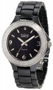 [バージ]Burgi 腕時計 Round Swiss Quartz Diamond Ceramic Mother of Pearl Quartz Watch BU47BK レディース [並行輸入品]