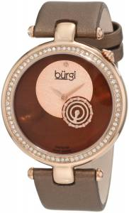 [バージ]Burgi 腕時計 Round Swiss Quartz Dazzling Diamond Watch BU42BR レディース [並行輸入品]
