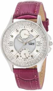 [バージ]Burgi 腕時計 Round Diamond Classic Stainless Steel GMT Date Watch BU44RD レディース [並行輸入品]