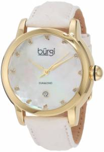 [バージ]Burgi 腕時計 Round Swiss Quartz Diamond Date Strap Watch BU14W レディース [並行輸入品]