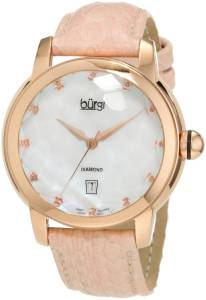 [バージ]Burgi 腕時計 Round Swiss Quartz Diamond Date Strap Watch BU14P レディース [並行輸入品]