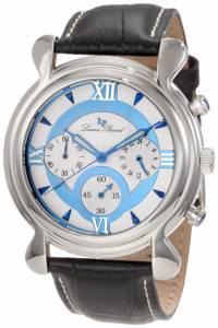 [ルシアン ピカール]Lucien Piccard 腕時計 Scoperta Chronograph Black Leather Watch 28168BU メンズ [並行輸入品]