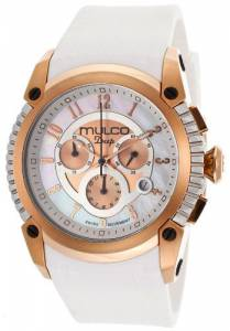 [マルコ]MULCO 腕時計 Deep Chronograph Mother of Pearl Dial White Silicone Watch MW121160013 [並行輸入品]