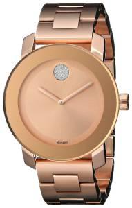 [モバード]Movado 腕時計 Bold Analog Display Swiss Quartz Rose Gold Watch 3600086 レディース [並行輸入品]