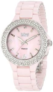 [バージ]Burgi 腕時計 Diamond Ceramic MotherOfPearl Watch BU47PK レディース [並行輸入品]