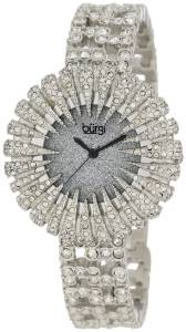 [バージ]Burgi  15.5mm Dazzling Crystal Analog Quartz Stainless SteelPlated Silver Watch BU54SS