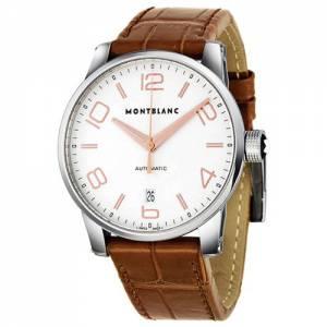 [モンブラン]Montblanc 腕時計 Timewalker Automatic Silver Dial Brown Leather Watch 105813 メンズ [並行輸入品]