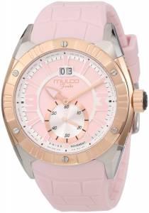 [マルコ]MULCO Fondo Rose GoldTone Stainless Steel Watch with Pink CrocoEmbossed MW1-18265-088