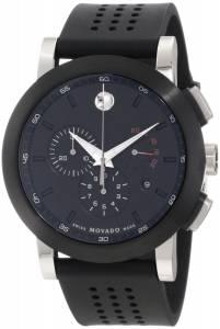 [モバード]Movado 腕時計 Museum Perforated BlackRubber Strap Sport Watch 0606545 メンズ [並行輸入品]