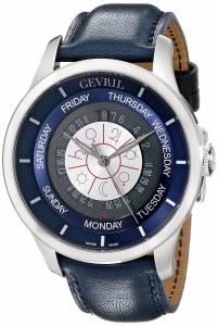 [ジェビル]Gevril Columbus Circle Automatic Stainless Steel DayDate Watch With Handmade 2000