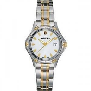 [ウェンガー]Wenger 腕時計 STANDARD ISSUE WHITE MOTHER-OF-PEARL DIAL TWO 59-6091 [並行輸入品]