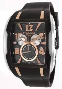 [マルコ]MULCO 腕時計 Deep Black Dial Chronograph Black Silicone Watch MW1-13187-025 ユニセックス [並行輸入品]