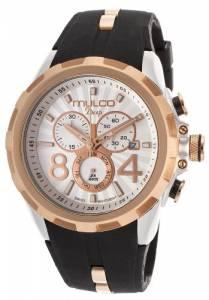 [マルコ]MULCO 腕時計 Deep Chronograph White Dial Black Silicone Watch MW129382021 ユニセックス [並行輸入品]
