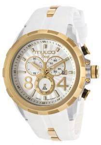 [マルコ]MULCO 腕時計 Deep Chronograph Silver Dial White Silicone Watch MW129382012 [並行輸入品]