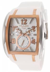 [マルコ]MULCO Deep Silver Dial Chronograph White Silicone Watch MW113187013 MW1-13187-013